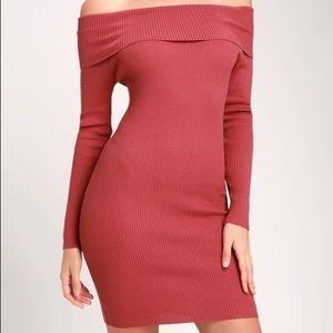 Lulu*s NWOT berry pink body con dress small